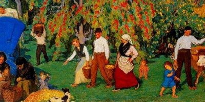 Recogiendo la manzana (detalle). 1922.